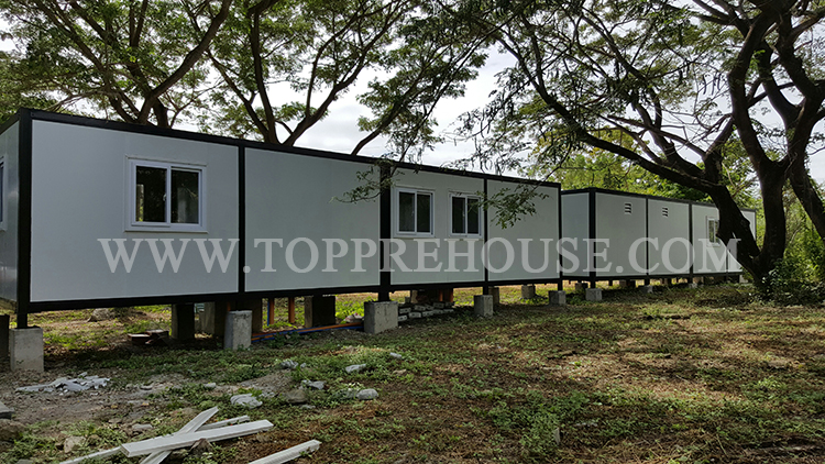 Container house project finished in Philippine